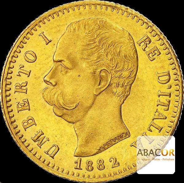 20 Lires Or Humbert Ier (Umberto I) - Union Latine