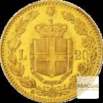 20 Lires Or Humbert Ier (Umberto I) Union Latine Revers