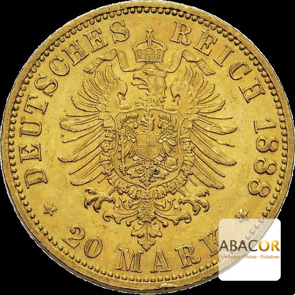20 Mark Or Friedrich III Prusse