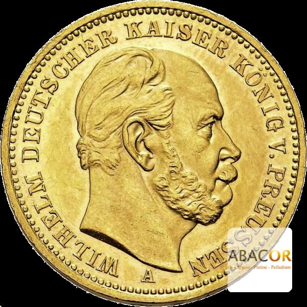 20 Mark Or Wilhelm I Prusse