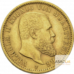 20 Mark Or Wilhelm II Roi de Wurtemberg