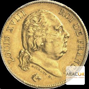 40 Francs Or Louis XVIII