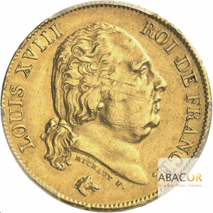 40 Francs Or Louis XVIII