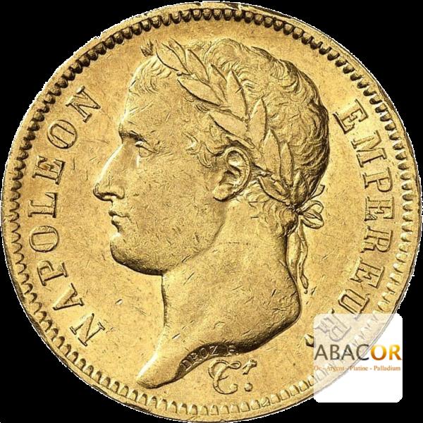 40 Francs Or Napoléon Tête Laurée Empire Français