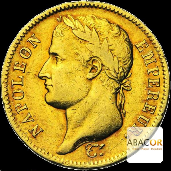 40 Francs Or Napoléon Tête Laurée République Française