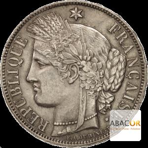 5 Francs Argent Cérès Avec Légende 1870