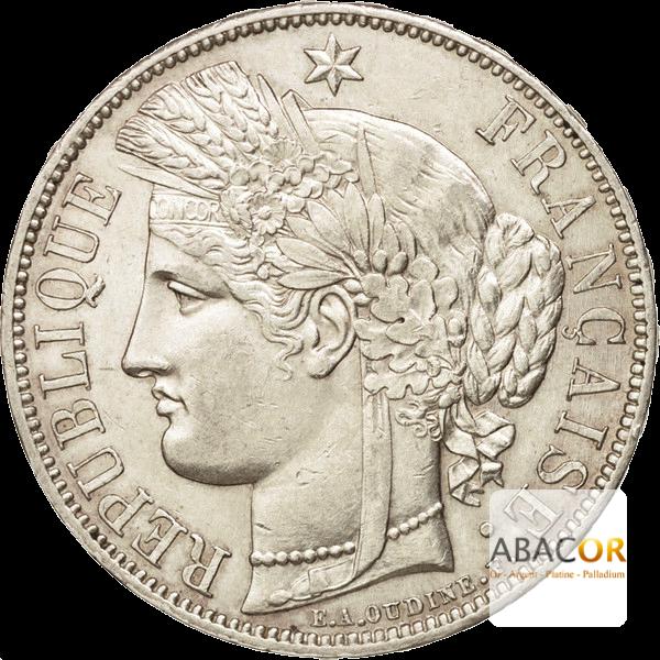 5 Francs Argent Cérès Sans Légende 1870-1871