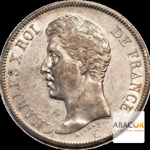 5 Francs Argent Charles X 1er Type