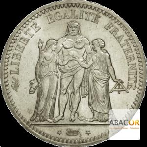 5 Francs Argent Hercule IIème République
