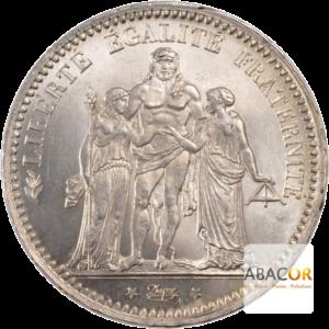 5 Francs Argent Hercule Troisième République