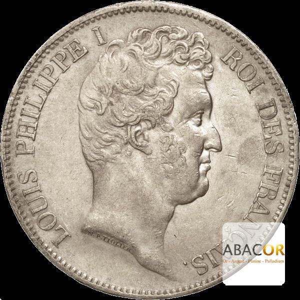 5 Francs Argent Louis-Philippe Ier Tête Nue