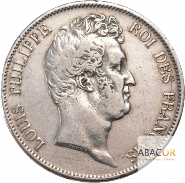 5 Francs Argent Louis-Philippe Tête Nue Sans le I