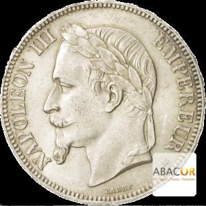 5 Francs Argent Napoléon III Tête Laurée