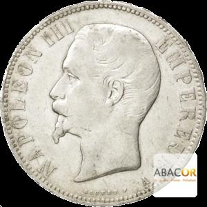 5 Francs Argent Napoléon III Tête Nue
