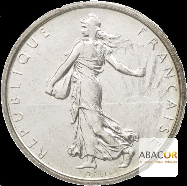 Pièce de 5 Francs Semeuse en Argent Avers