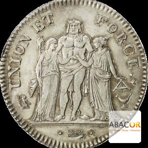 5 Francs Argent Union et Force Consulat