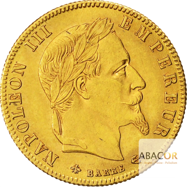 5 Francs Or Napoléon III Tête Laurée