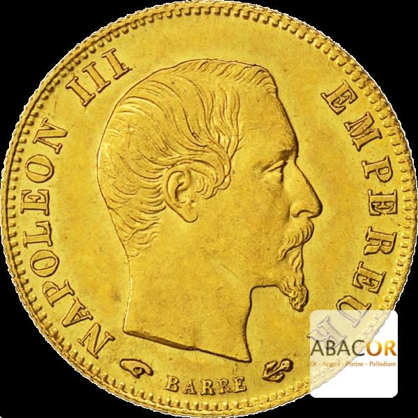 5 Francs Or Napoléon III Tête Nue