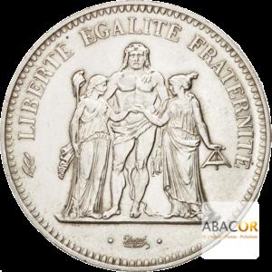 50 Francs Argent Hercule 1974 Avers de 20 Francs