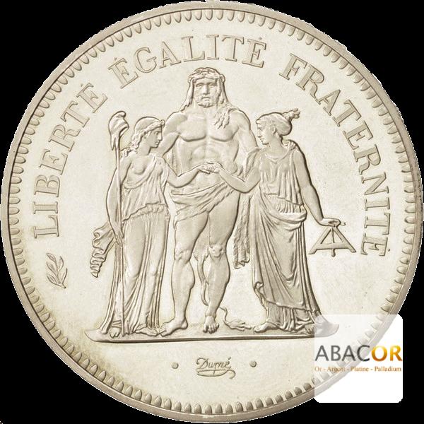 Pièce de 50 Francs Hercule en Argent Avers