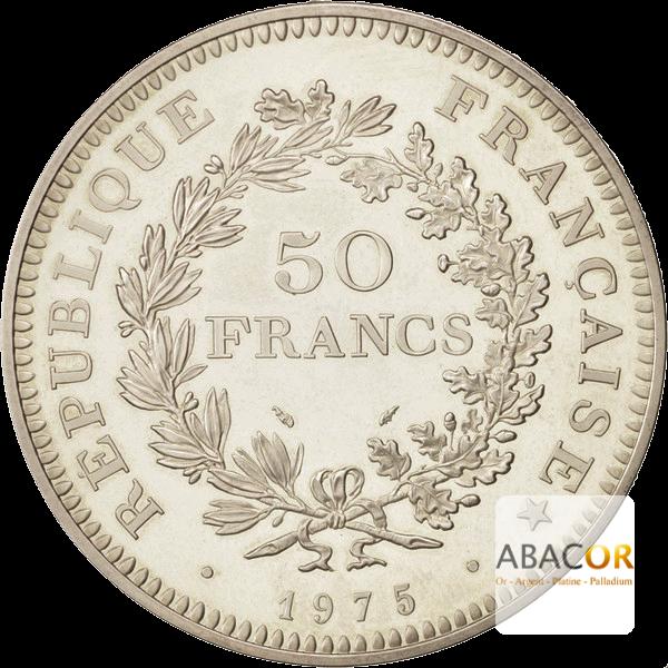 Pièce de 50 Francs Hercule en Argent Revers
