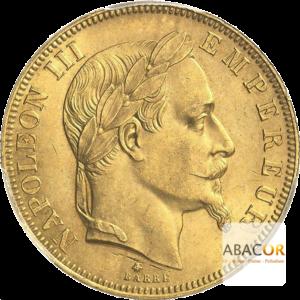 50 Francs Or Napoléon III Tête Laurée