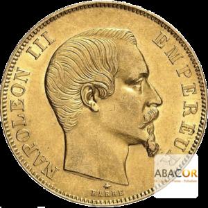 50 Francs Or Napoléon III Tête Nue