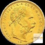 8 Florins Or - 20 Francs Autriche François Joseph 1er Union Latine Avers