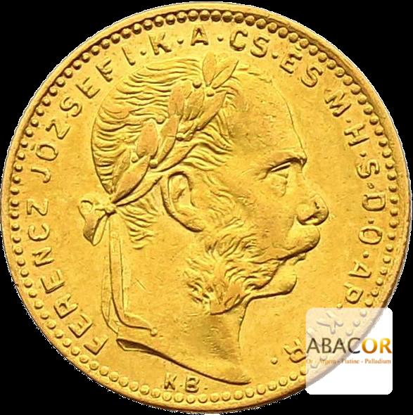 8 Florins Or - 20 Francs Autriche François Joseph 1er