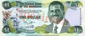 Billet 1 Dollar Bahamas BSD 2001 recto