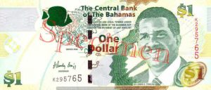 Billet 1 Dollar Bahamas BSD 2008 recto