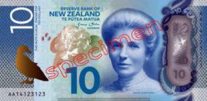 Billet 10 Dollar Nouvelle Zelande NZD Serie 7 recto