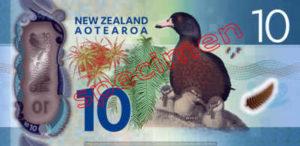 Billet 10 Dollar Nouvelle Zelande NZD Serie 7 verso