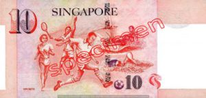 Billet 10 Dollar Singapour SGD 4ème Série IV verso