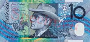 Billet 10 Dollar Australien AUD I recto