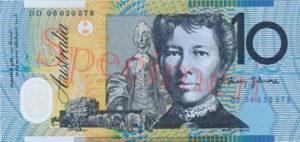 Billet 10 Dollar Australien AUD I verso
