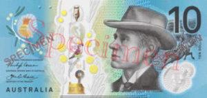 Billet 10 Dollars Australie AUD II recto