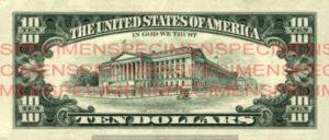 Billet 10 Dollars Etats-Unis USD