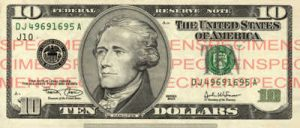 Billet 10 Dollars Etats-Unis USD