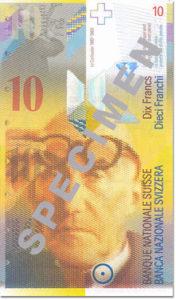 Billet 10 Francs Suisse CHF