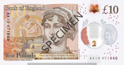 Billet 10 Livres Sterling GBP