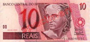 Billet 10 Real Bresil BRL Serie I recto