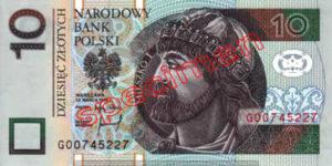 Billet 10 Zloty Pologne PLN Type I recto