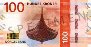 Billet 100 Couronne Norvégienne NOK Serie VIII recto