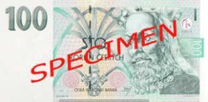 Billet 100 Couronnes Rep Tcheque CZK recto