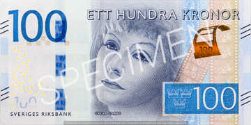 Billet 100 Couronnes Suede SEK recto