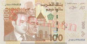 Billet 100 Dirhams Maroc MAD 2002 recto