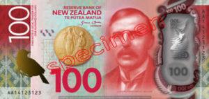 Billet 100 Dollar Nouvelle Zelande NZD Serie 7 recto