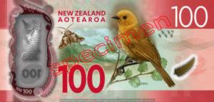 Billet 100 Dollar Nouvelle Zelande NZD Serie 7 verso