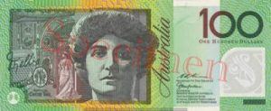 Billet 100 Dollar Australien AUD verso AUD recto